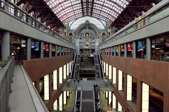 La gare d'Anvers-Central